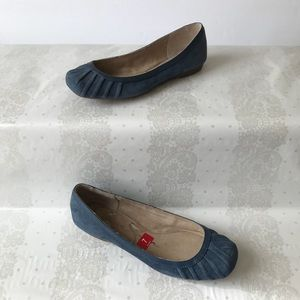 Jessica Simpson Blue Suede Merlie Shoe Size 7